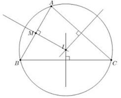 Ví dụ về đường tròn ngoại tiếp tam giác