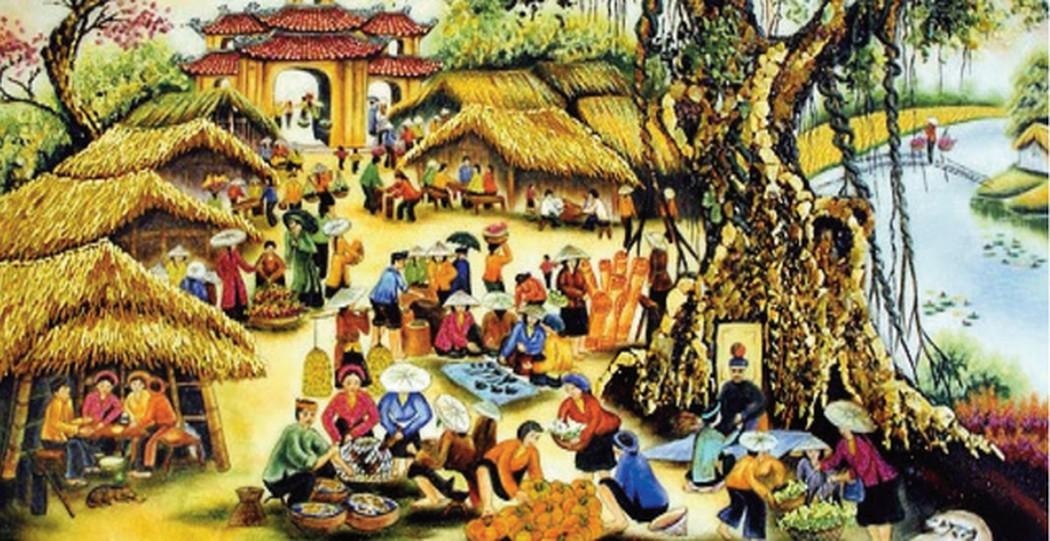 Anh/ chị hãy ta phiên chợ Tết ở quê hương mình