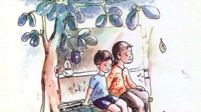 Dàn ý hình ảnh đoàn tàu trong hai đứa trẻ