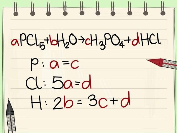 Cân bằng phương trình hóa học