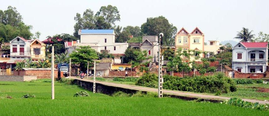 Những ngôi nhà cao tầng mọc lên san sát nhau
