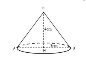 bài tập 3 hình nón, thể tích hình nón