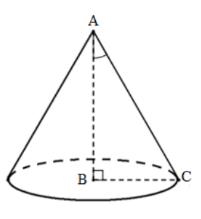 bài tập 8 hình nón, thể tích hình nón
